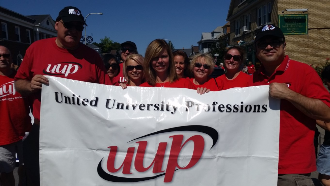 UUPers, (including Monica Wallace - running for NYS Assembly) at the Labor Day Parade!